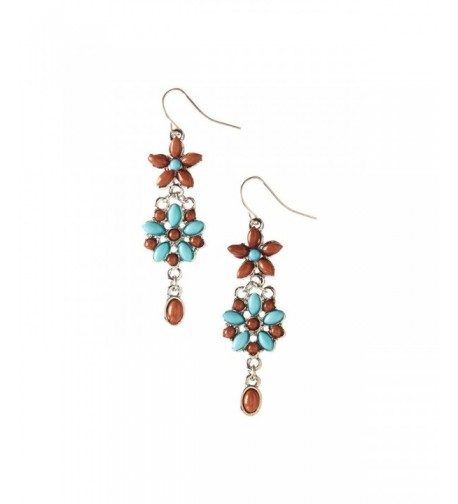 Lux Accessories Synthetic Turquoise Earrings