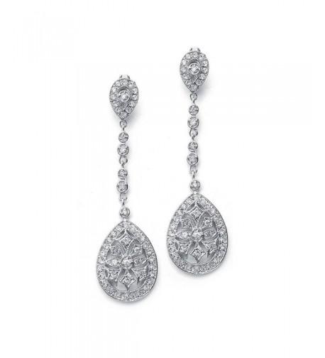 Mariell Deco Vintage Wedding Earrings