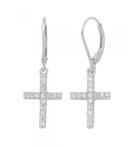 Sterling Silver Zirconia Dangle Earrings