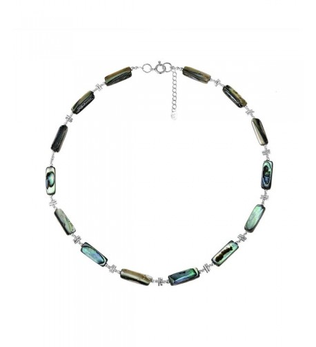 Exotic Abalone Sterling Silver Necklace