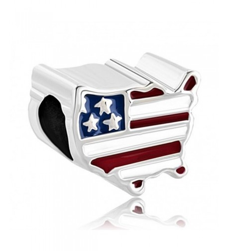 Pugster Patriotic American Country Bracelet