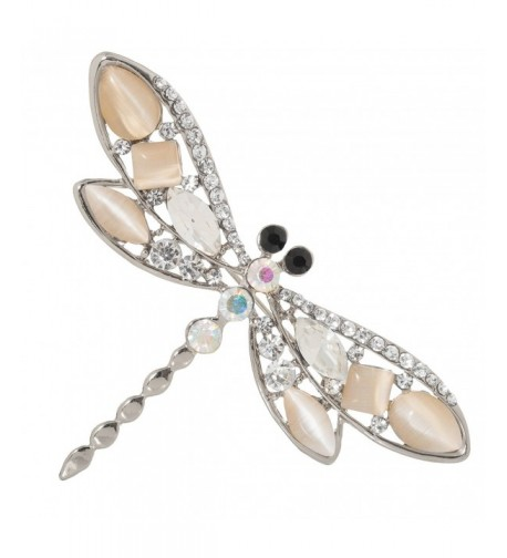 Jeweled Dragonfly Brooch Crystal Accents