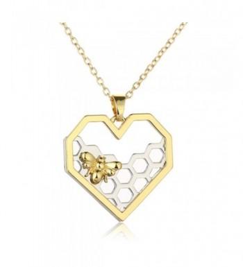 Hexagon Honeycomb Necklace CHUYUN Honeybee