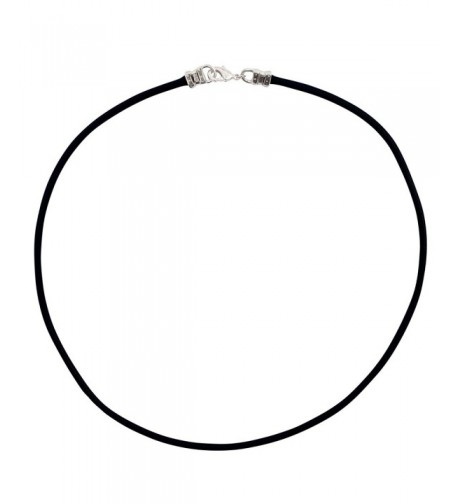 Sterling Silver Thick Leather Necklace