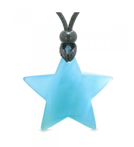 Positive Simulated Crystal Pendant Necklace