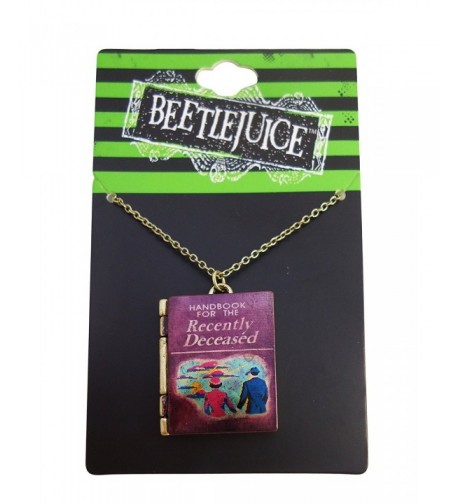 Beetlejuice Handbook Recently Deceased Necklace