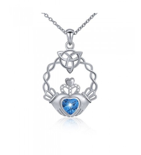 Sterling Holding Claddagh Pendant Necklace