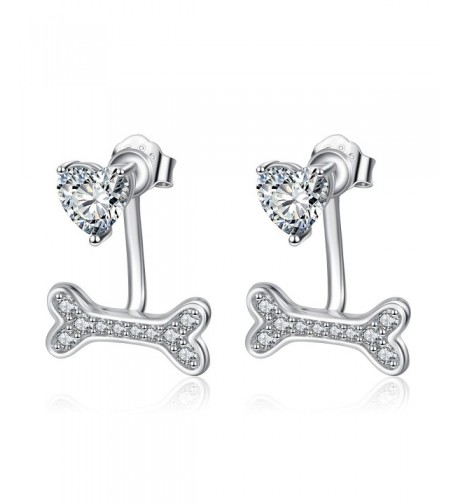 Jewelry Sterling Silver Crystal Earrings