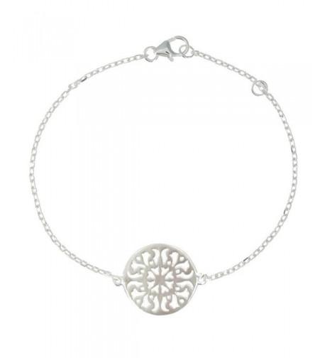 Poulettes Jewels Rhodium Bracelet Arabesques