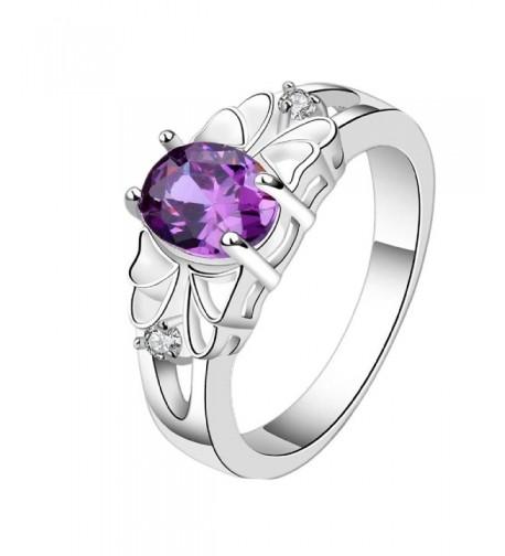 Susenstone Delicate Purple Zircon Ring