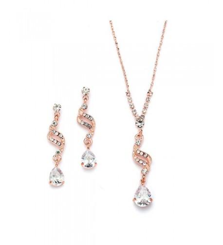 Mariell Graceful Teardrop Necklace Earrings