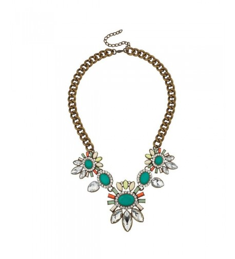 Lux Accessories Synthetic Turquoise Statement
