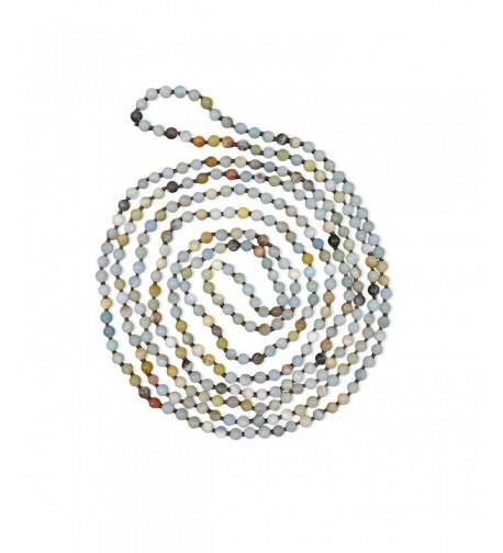 BjB Amazonite Beaded Infinity Necklace