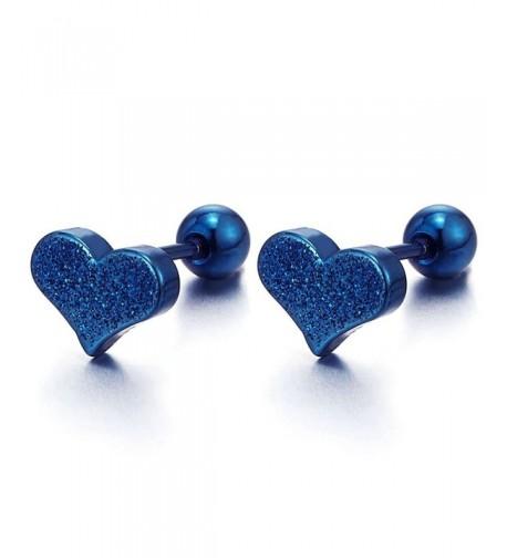 Satin Heart Earrings Stainless Steel