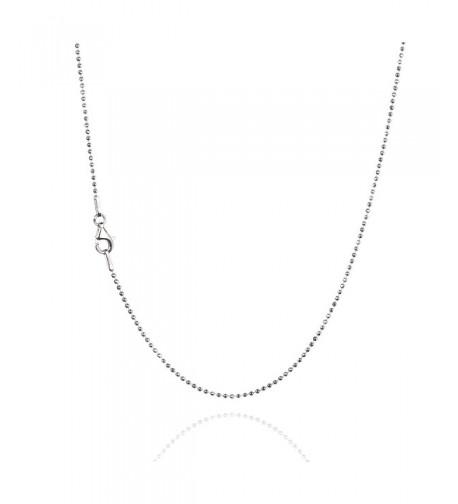 Sterling Diamond Cut Chain Necklace Clasp RHODIUM