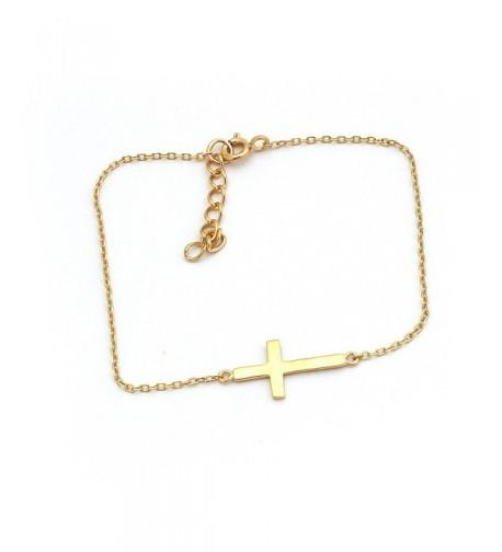 Yellow Sterling Silver Sideways Bracelet