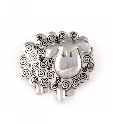 St Justin Pewter Swirly Brooch
