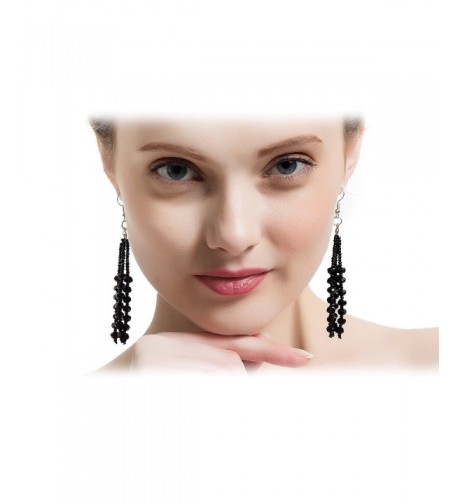 Collection Vintage Charcoal Multitier Earrings