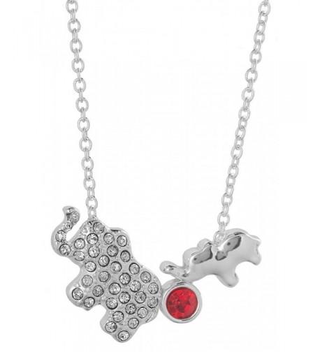 Elephant Crystal Necklace Jewelry Nexus