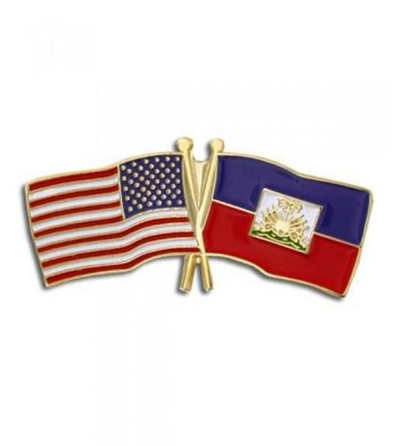 PinMarts Haiti Crossed Friendship Enamel