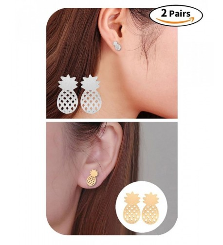 Pairs Elegant Pineapple Stud Earrings