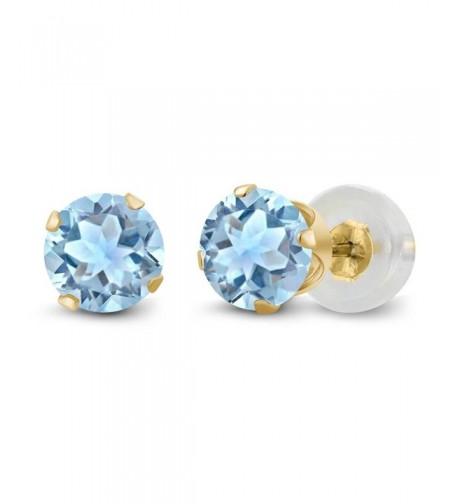 Topaz Gemstone Yellow Womens Earrings