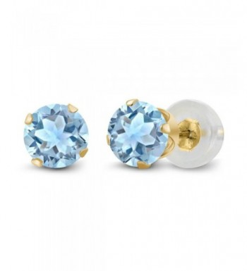 Topaz Gemstone Yellow Womens Earrings