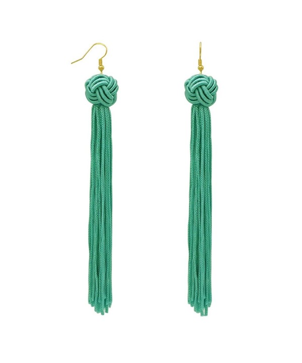 Rosemarie Collections Shoulder Earrings Turquoise