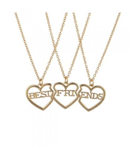 Lux Accessories Friends Broken Necklace