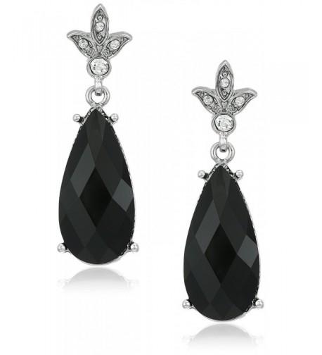 1928 Jewelry Silver Tone Teardrop Earrings