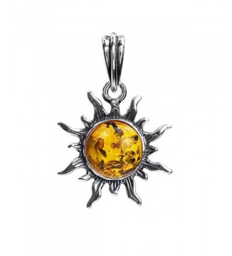 Amber Stirling Silver Small Pendant