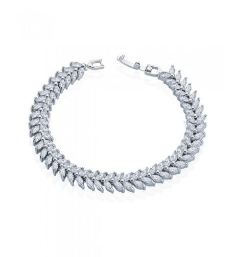 XLF Platinum Sterling Zirconia Bracelet