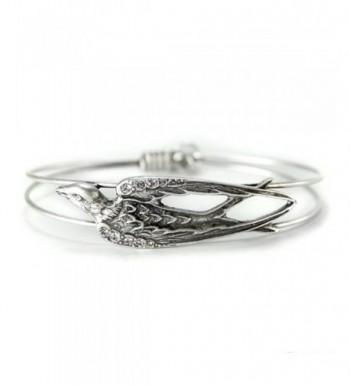 Bracelet Silver Bangle Swallow Jewelry