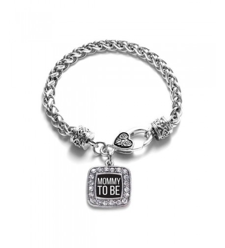 Expecting Classic Silver Crystal Bracelet