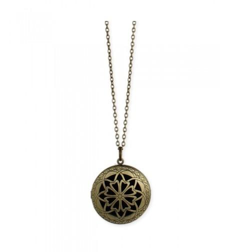 Essential Burnished Diffuser Locket Necklace