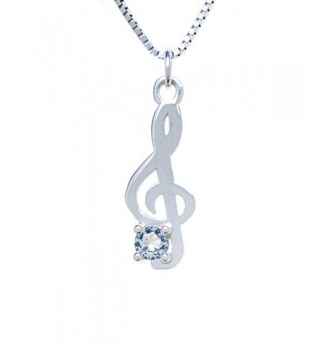 Sterling Silver Pendant Charm Treble