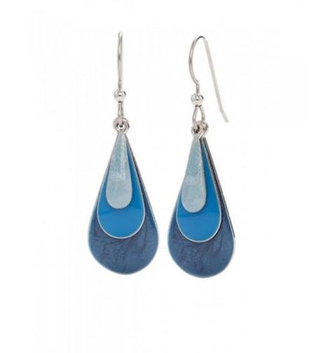 Silver Forest Earrings Enamel Teardrop
