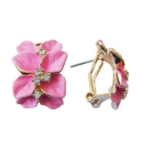 Generic Plated Crystal Enamel Earrings