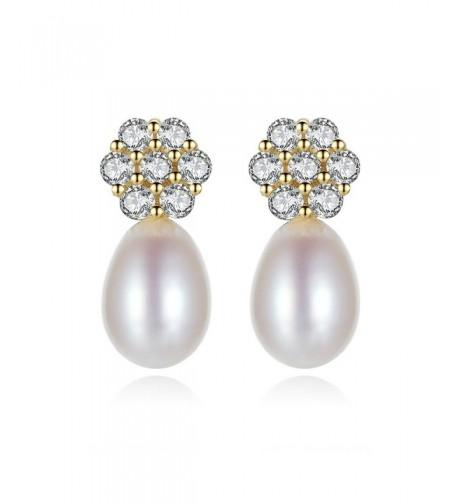 Plated Sterling Silver Freshwater Earrings