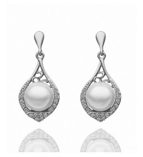 Vintage Earrings Crystal Earring silver plated base