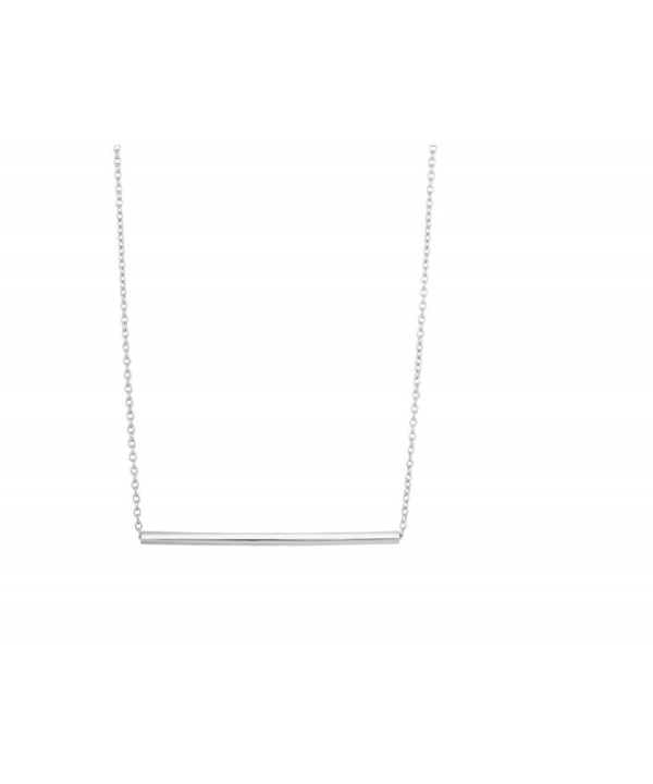 Cylinder Bar Pendant Necklace Chain