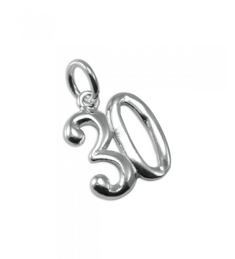 Sterling Silver Birthday Number Aniversary