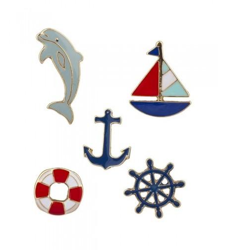 Lux Accessories Goldtone Nautical Shipwreck