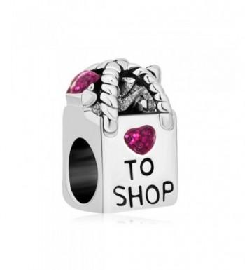 LovelyCharms Shopping Heart Antique Bracelets