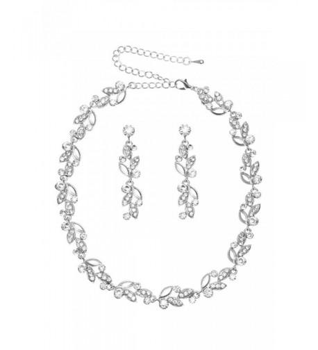 Jewelry Rhinestone Crystal Necklace Earrings
