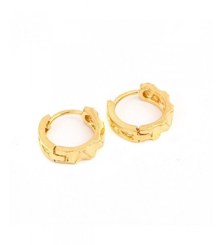 Gold Plated Engraved Polished Earrings