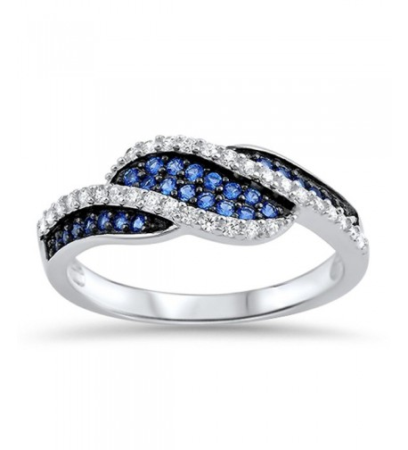 Simulated Sapphire Micro Sterling Silver