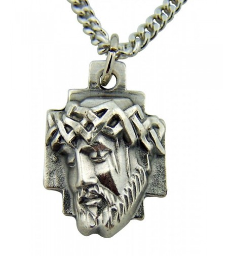 Silver Toned Crown Thorns Christ