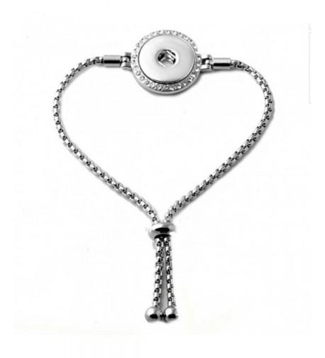 Interchangeable 18 20mm Jewelry Adjustable Bracelet