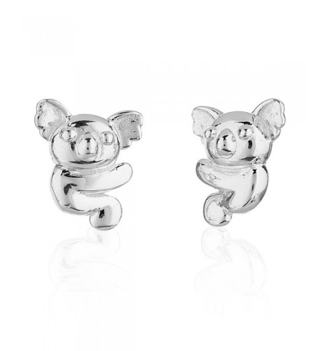 Childrens Sterling Silver Koala Earrings